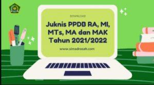 juknis ppdb madrasah tahun 2021