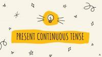 rumus present continuous tense